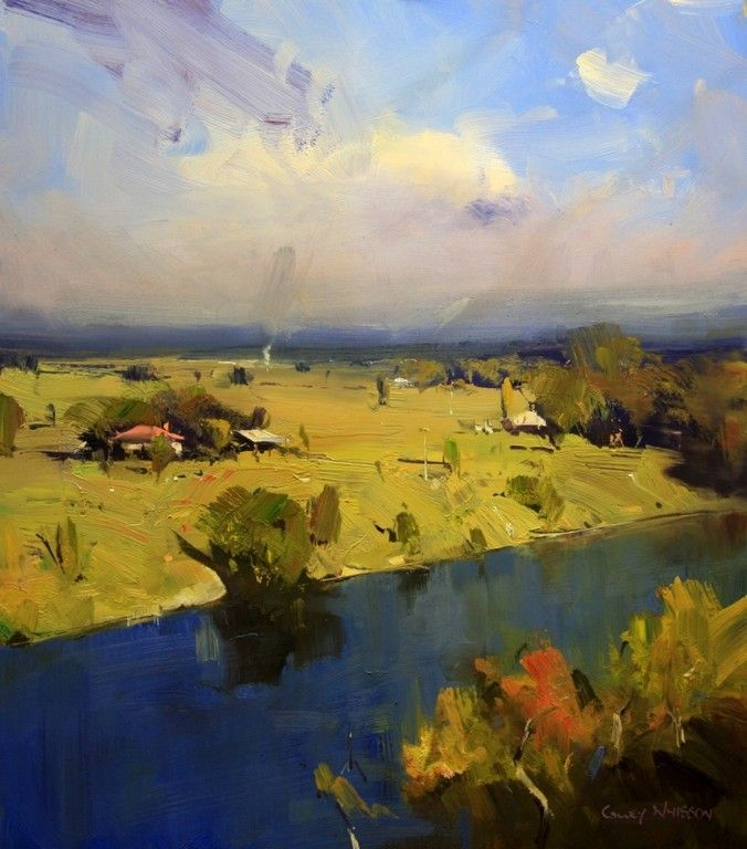 """""""Midday Moment, Hawkesbury River - NSW"""" (16x14), By Colley Whisson"""