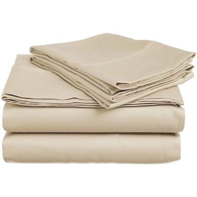 Simple Luxury 300 Thread Count Sheet Set Color: Tan, Size: Twin XL