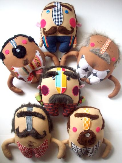 I adore these hairy muscle men by Nichol of Pink Cheek Studios. I'm especially attracted to the hairy-chested ones. Just sayin. Go to Nichol's post.