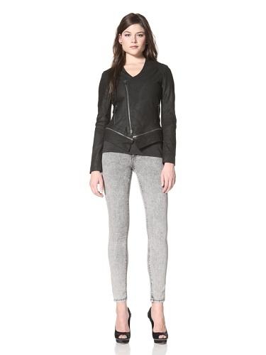 77% OFF Improvd Women's Layna Leather Jacket (Black