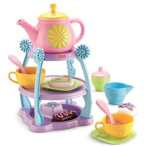 Amazon.com: Fisher-Price Servin' Surprises Tea Party Set: Toys & Games