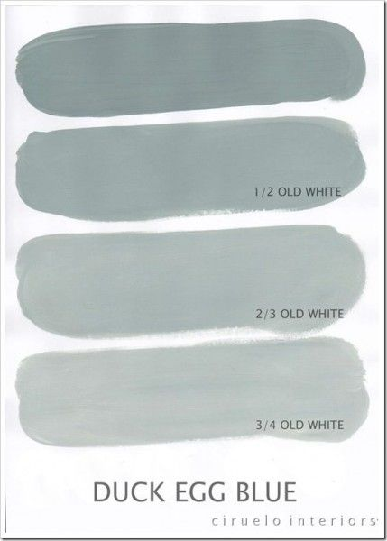 Duck Egg Blue color mix