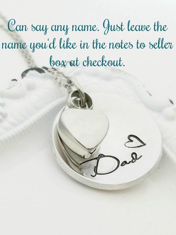 b9ffd7cddb28f Personalized Cremation Necklace, Cremation Urn Necklace, Memorial ...