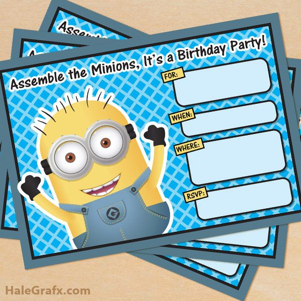 iShare's Favorite Summer Printables - Minion parties!