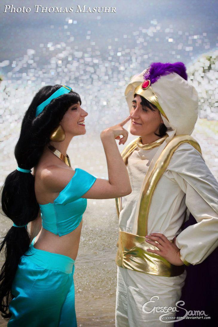 Right! A Prince Like You! - Jasmine Cosplay by Eressea-sama on deviantART...dude looks like Al....cool