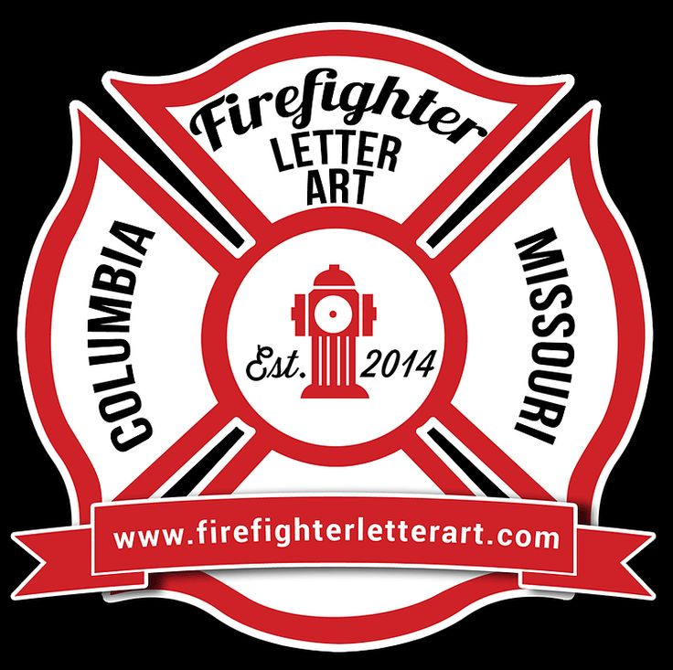 37 best wood initial door hangers images on pinterest for Personalized firefighter letter art