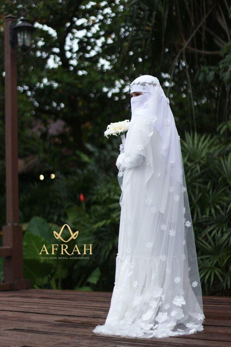 Delicate Niqabi Bridal Gown