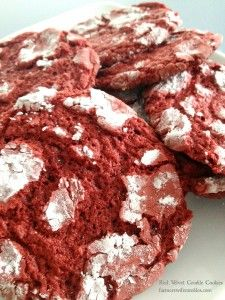 Red Velvet Crinkle cookies are delectable and only need 5 ingredients.  Can you guess which 5?  farmerswiferambles.com