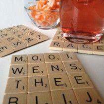 Knutsel Scrabble onderzetters