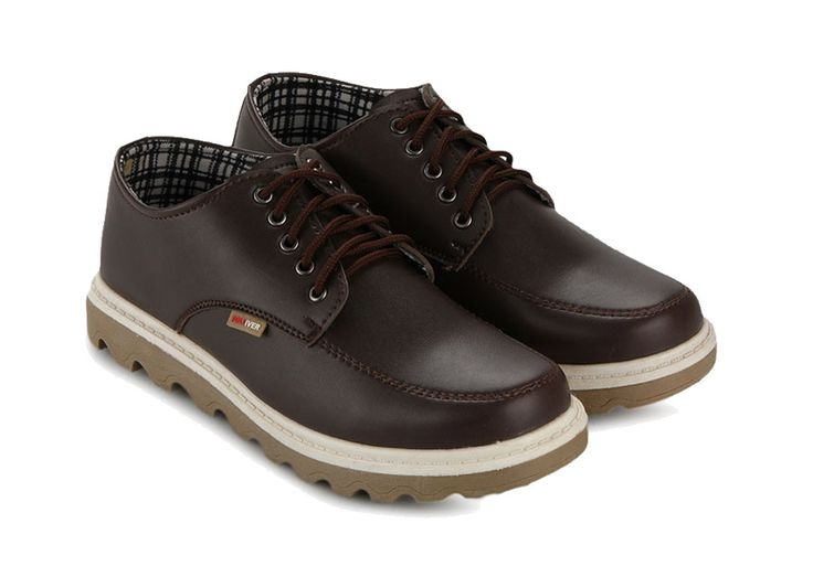 Brown Men Casual Shoes by Tolliver, shoes with classic design, and stitching with contrast color, this shoes made from synthetic leather, round toe, dark brown color, lace up, rubber sole,  a great addition to your casual outfit.  http://www.zocko.com/z/JIYWm