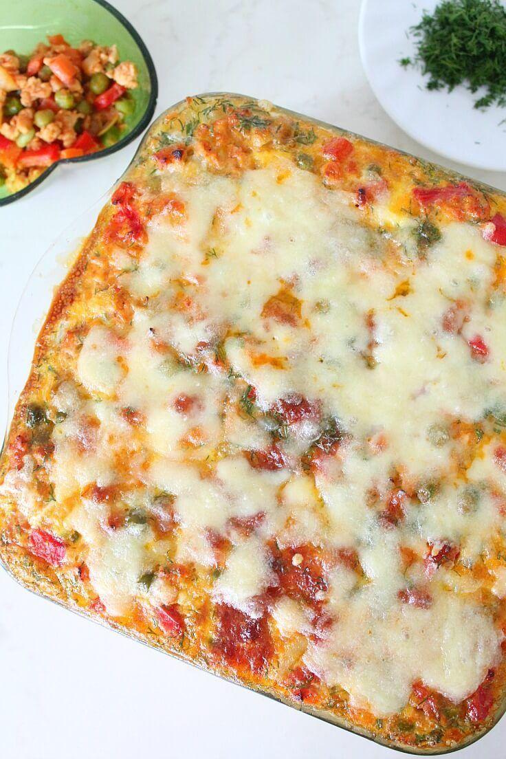 LASAGNA DE CARTOFI SI PUI - Aceasta lasagna de cartofi si pui e o cină foarte consistentă! Bogata in legume, este o varianta mai rapidă, mai sănătoasă și mai delicioasa la rețeta tradițională de lasagna!