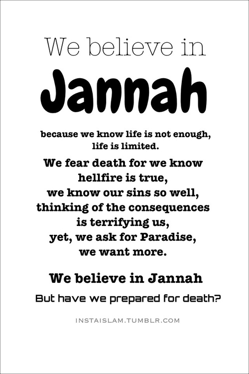instaislam:    We believe in Jannah but..
