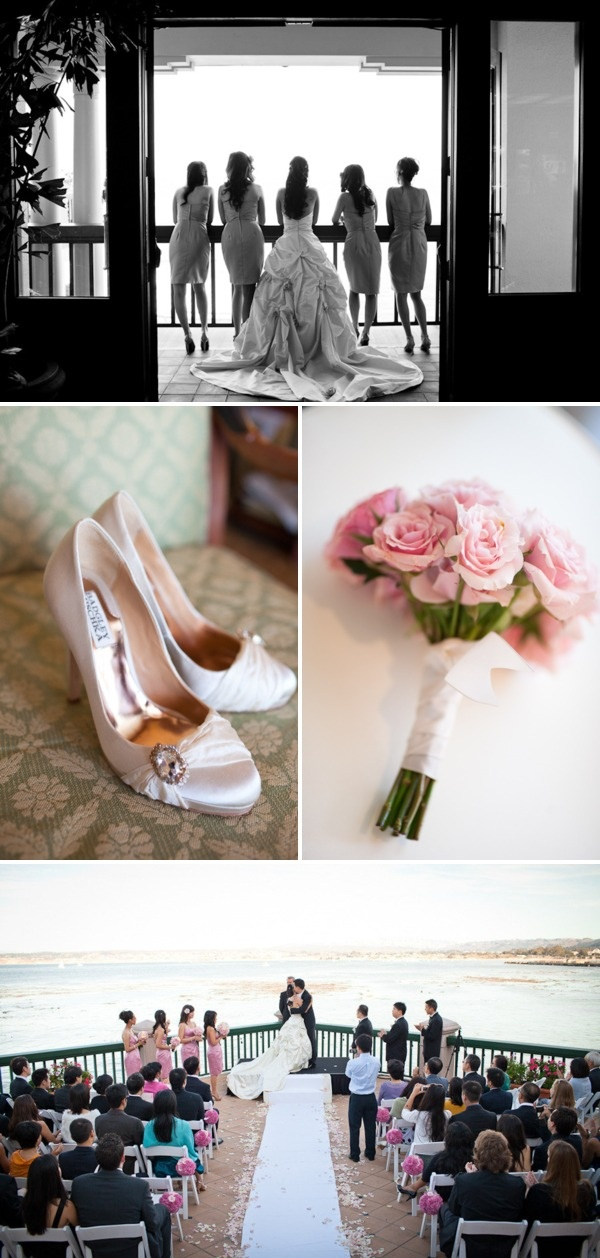 beach wedding places in california%0A Monterey Plaza Hotel Wedding by Michael L u    Heureux Photography