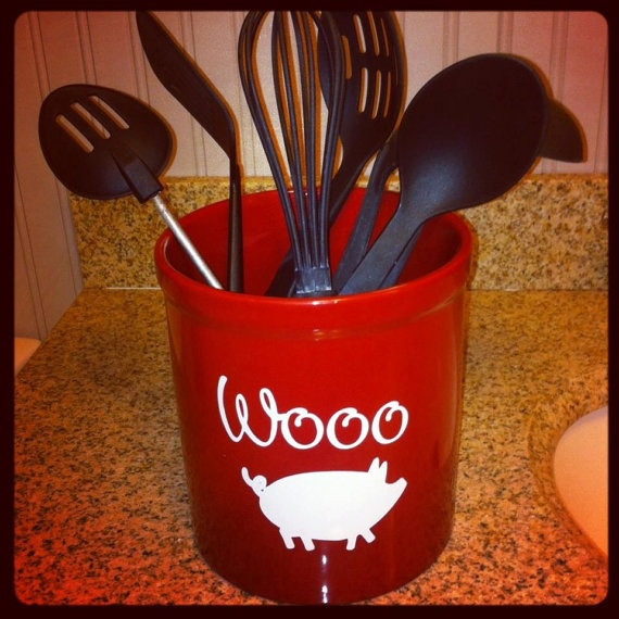 Personalized Kitchen Caddy Utensil Holder by TheKitchenBoutique, $17.50