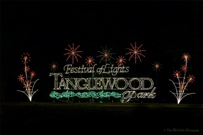 Tanglewood Park festival of lights, happens every winter in Clemmons, NC!
