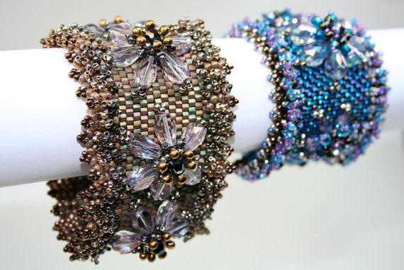 What's Your Lily Beaded Cuff Bracelet Pattern by EmbellishedByRose, $15.00 bead beaded beading beadweaving beadwork work weaving cuff diy