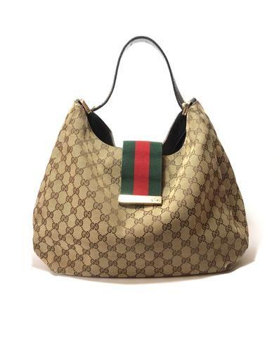 Gucci Monogram Canvas with Web Stripe Hobo Bag  d7e4ed393a302