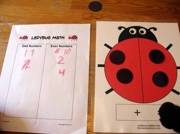 ladybug math 1 the measured mom0011 590x442 Ladybug Math for Preschool, Kindergarten & 1st Grade