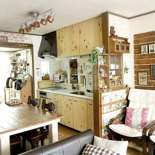 mintさんの、ダイニングテーブル,キッチン扉リフォーム,DIY,リフォーム,リビング,のお部屋写真