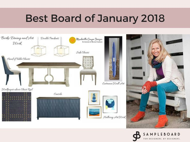 This elegant mood board, work of our user Renee Carman from Mandeville Canyon Designs has been chosen as the Best Board of the Month for January 2018. Submit your designs and stand a chance to be featured and win a prize! Best Mood Board of January 2018 - Renee Carman | SampleBoard Blog