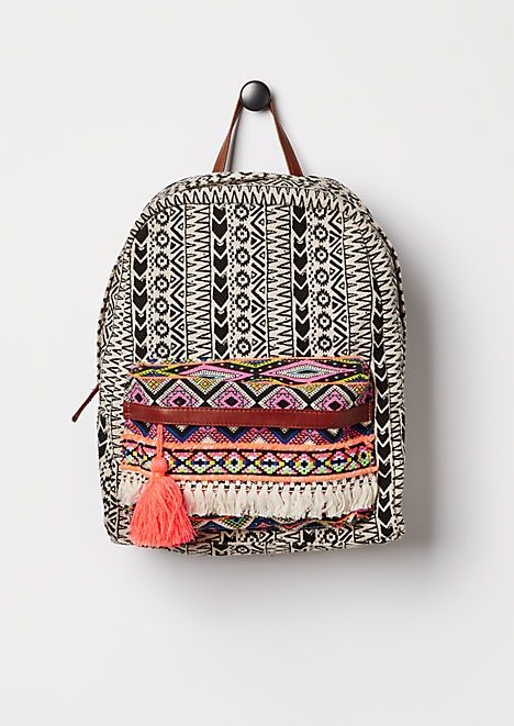 Got this adorable bag at RUE21. I love anything with an ethnic print or bohemian look and I couldn't pass it up.