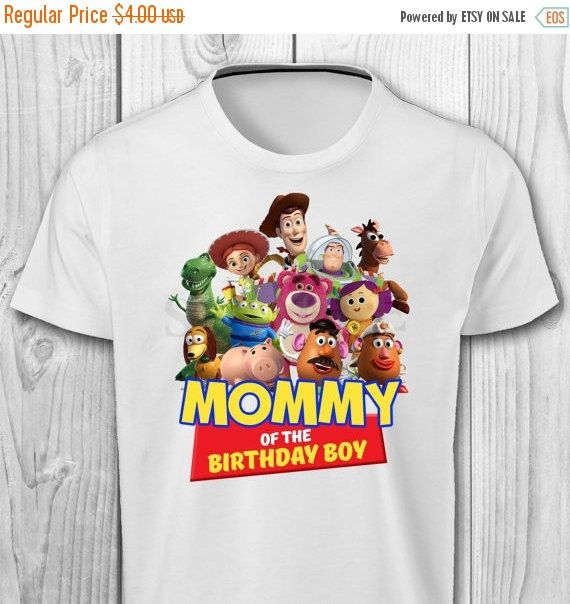 526065e7 ON SALE 35% Toy Story Mommy of the Birthday Boy by CuteInvitation1 | Remmy  turns 3! | Toy story birthday, Toy story shirt, Disney cars birthday