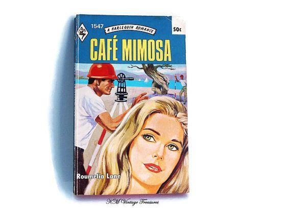 Vintage Harlequin Romance Novel/ Cafe Mimosa by Roumelia Lane/