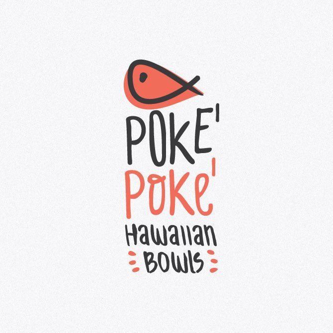 48 fish logos that go over swimmingly. Poke bowls logo design by evey81 #seafood #restaurant #branding
