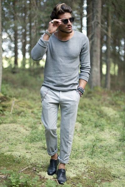 Mario di Vaio style: double grey summer outfit.