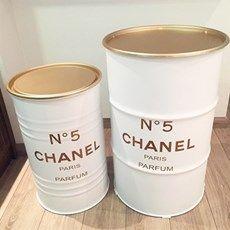 Tambor Chanel Branco com Dourado