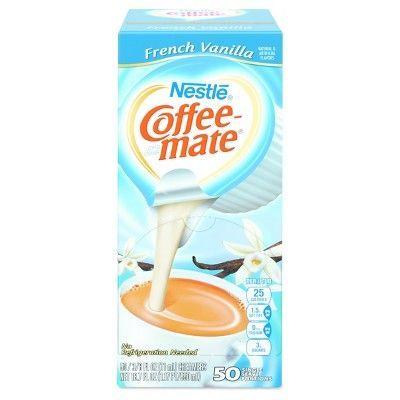 Coffee-Mate French Vanilla Creamer - Single Serve Pods - 50ct
