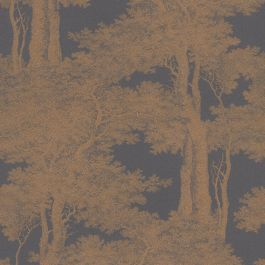 Passepartout Trees Wallpaper Black and Copper Rasch 605426 Rasch Passepartout Trees Wallpaper is a classic design which has been taken from the Rasch archives and given a contemporary makeover. The high quality wallpaper features beautiful metallic copper tree silhouettes set upon a matte black background with a slight texture for added depth. As a paste the wall paper, it is incredibly easy to apply and work with. This wallpaper could be used to create a feature wall or to decorate a…