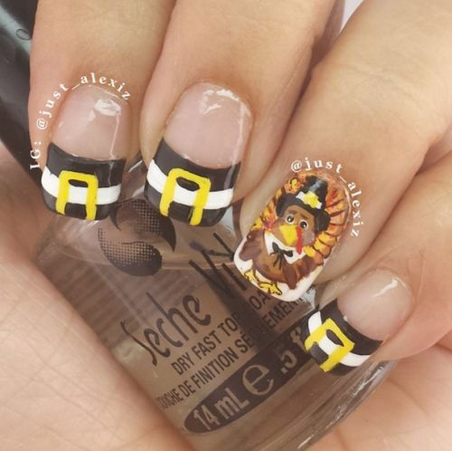 Thanksgiving Nail Art Designs,