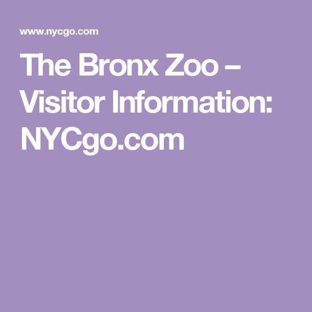 The Bronx Zoo – Visitor Information: NYCgo.com
