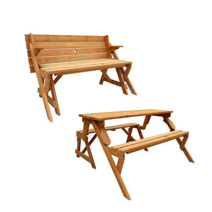 Convertible Picnic Table Garden Bench Wish List Pinterest