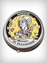OMG i gotta get this.. Ha!: Philosophical Guild, Unemploy Philosophical, Hatters Pills, Pills Boxes, Wonderland,  Hockey Puck, Mad Hatters, Products, Pill Boxes