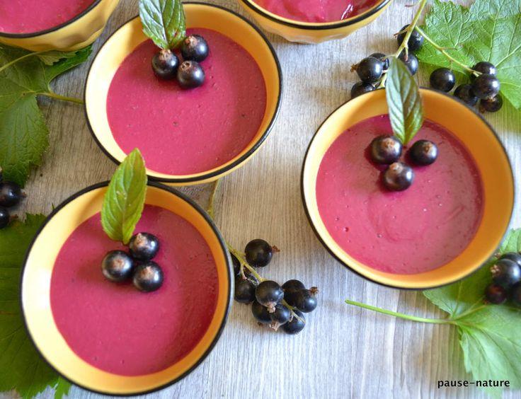 Petites crèmes cassis - le blog culinaire pause-nature