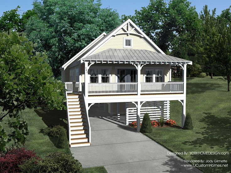 Best 25 house on stilts ideas on pinterest stilt house for Elevated key west style house plans