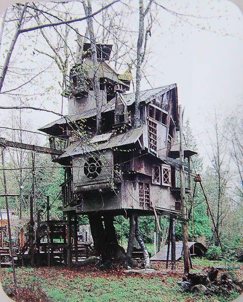 Redmond Treehouse - Redmond, Washington - Has taken 20 years to build so far.