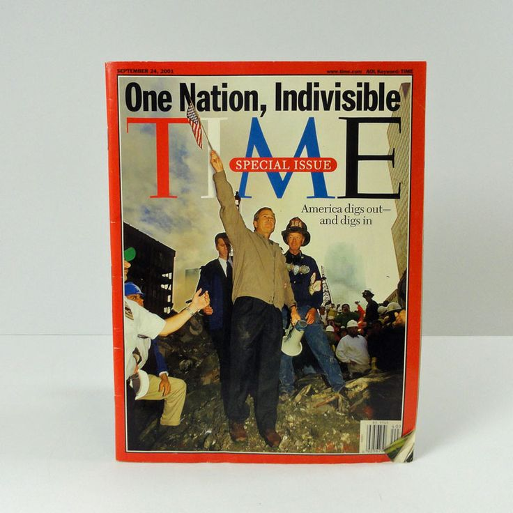 Special Edition World Trade Center Bombing George Bush Time Magazine - MAG212 - September 24, 2001 Special Edition Time Magazine with President George Bush  9-11 World Trade Center terrorism attack - FOR SALE at www.ClaudiasBargains.com