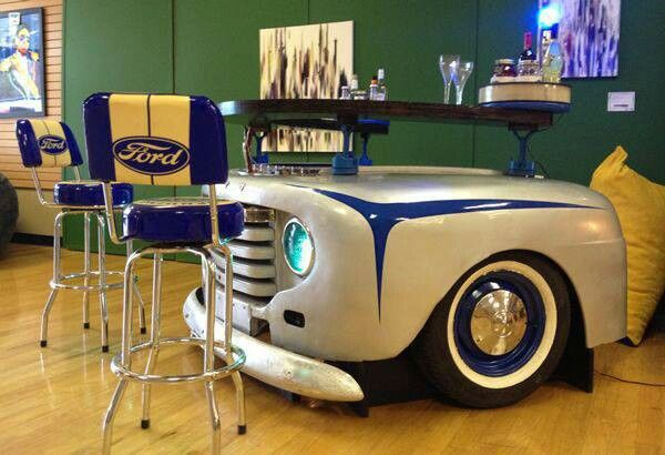 Ford Man Cave Decor : Old ford bar table man cave ideas pinterest