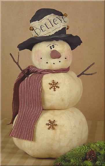C494 My Large Chubby Snowman- Believe~