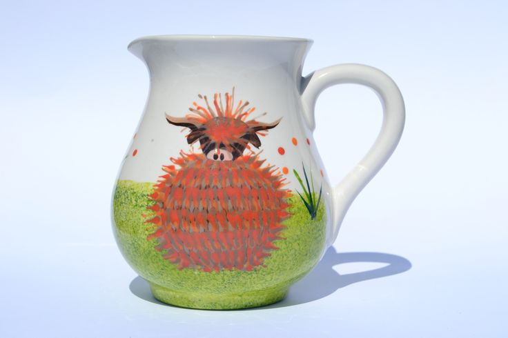 1/2 ltr Jug - hand painted in Scotland