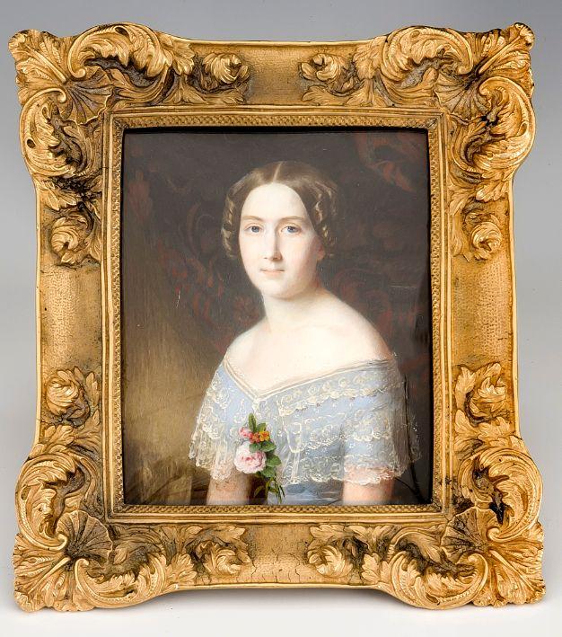Portrait Moritz Michael Daffinger (1790-1849)- signature and date -1832.