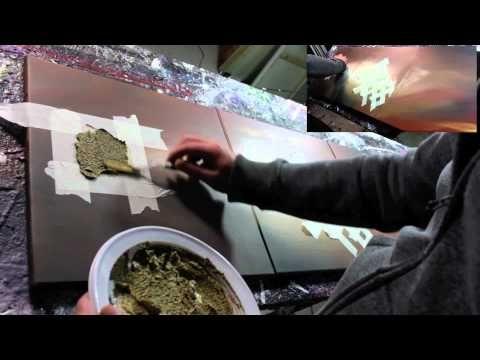 Démonstration réalisation d'un tableau abstrait en accéléré - Ulex Minor - John Beckley - YouTube