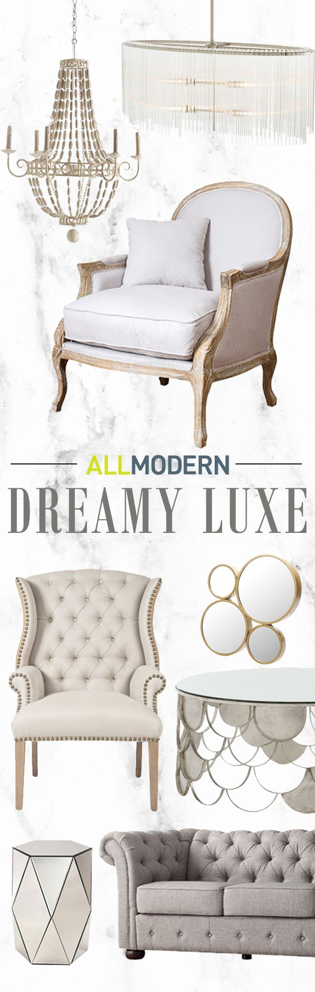 Design a room that's made for indulging in luxury, from bold patterns to a sophisticated palette. A mix of elegant textures is key to this style—enlist a variety of metallics and plush fabrics for a classy look. Visit today and sign up for exclusive access to sales plus FREE SHIPPING on orders over $49.