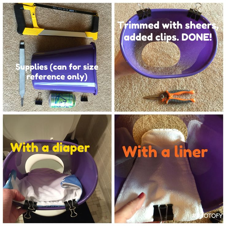 DIY 5 minute, < $2 cloth diaper sprayer shield. I made it today. Found a $1 small oval trash can at Family Dollar. Used a hack saw to cut the bottom off. That was totally uneven. Tried the file, didn't work well. Busted out sheers, trimmed it to make it even-ish. Added clips. Bam! DONE! Spent $1 + tax, had the binder clips at home already. Happy DIYing to you!