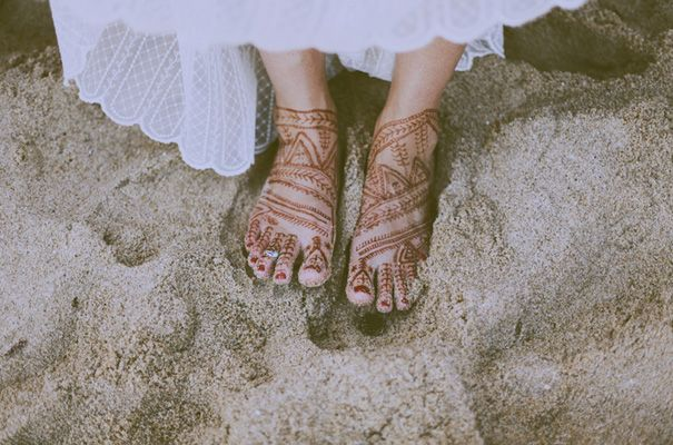 Beautiful idea for a beach ceremony as clearly I won't be attempting shoes.