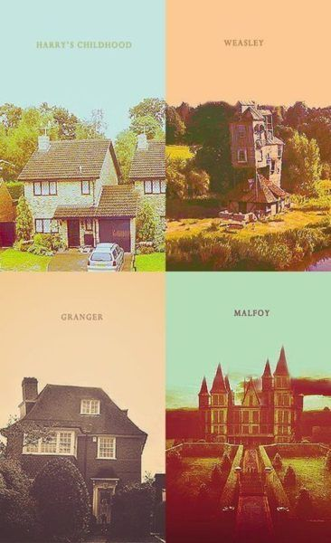 The childhood homes of the Golden Trio and the Boy Who Had No Choice.