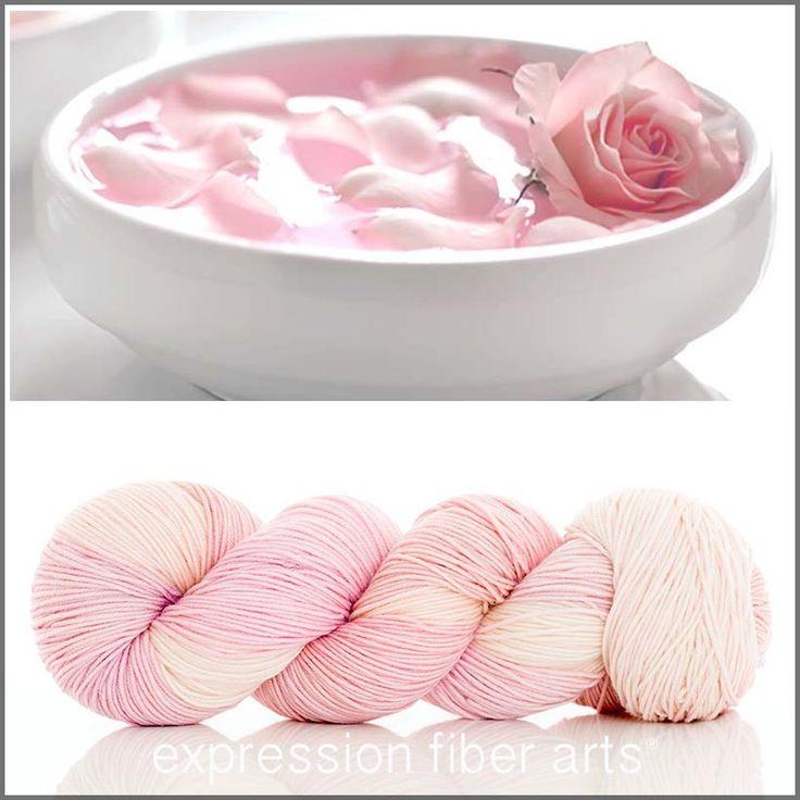 "Expression Fiber Arts ~ ""Rose Water"" 'Resilient' Superwash Merino Sock (400 yds.)"